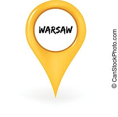 Location Warsaw - Map pin showing Warsaw