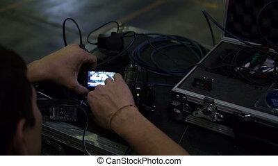 Man programmed a camera