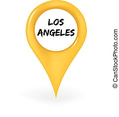 Location Los Angeles - Map pin showing Los Angeles.