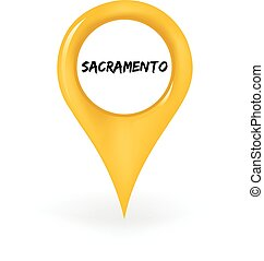 Location Sacramento - Map pin showing Sacramento.