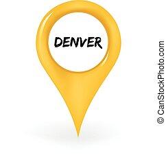 Location Denver - Map pin showing Denver