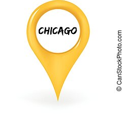 Location Chicago - Map pin showing Chicago