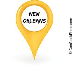 Location New Orleans - Map pin showing New Orleans