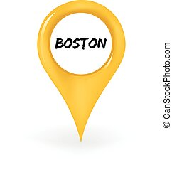Location Boston - Map pin showing Boston