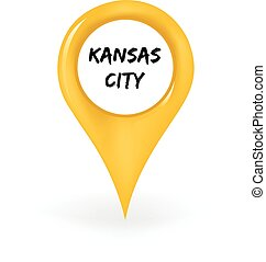 Location Kansas City - Map pin showing Kansas City