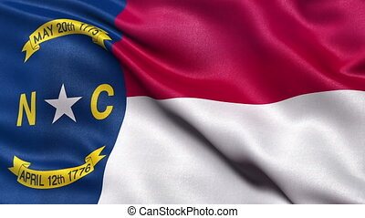 North Carolina state flag loop - Realistic North Carolina...