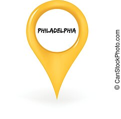 Location Philadelphia - Map pin showing Philadelphia