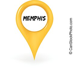 Location Memphis - Map pin showing Memphis