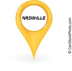 Location Nashville - Map pin showing Nashville