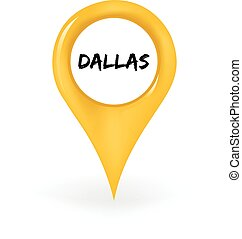 Location Dallas - Map pin showing Dallas