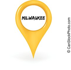 Location Milwaukee - Map pin showing Milwaukee.