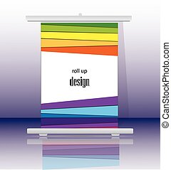 Roll up banner stand design.