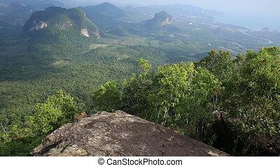 landscape from mountain peak