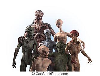 Alien Diversity: Group Portrait