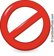 Ban Sign - Empty ban sign.