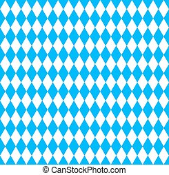 Bavarian Oktoberfest flag symbol - Seamless wallpaper...