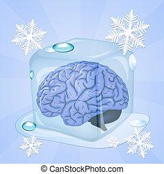 brain freeze - illustration of brain freeze