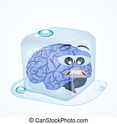 frozen brain - illustration of frozen brain