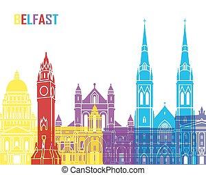 Belfast skyline pop in editable vector file