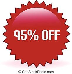 95 Percent Off Sticker