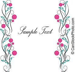 Frame of flowers vector - It is a vector illustration of a...