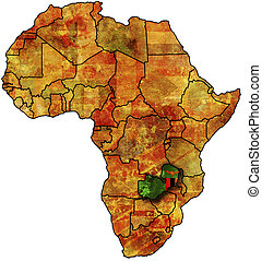 zambia old map - some very old grunge map with flag of...