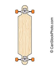 longboard - illustration of long board
