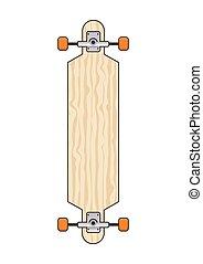 longboard - illustration of long board