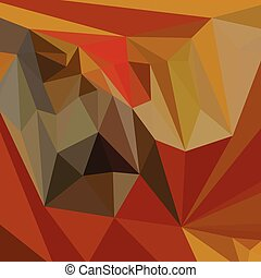 Mahogany Brown Abstract Low Polygon Background - Low polygon...