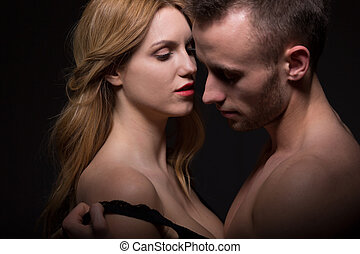Aroused man undressing a woman - Aroused man undressing...