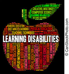 Learning Disabilities Words Means Special Education And...
