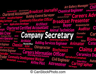 Company Secretary Represents Personal Assistant And...