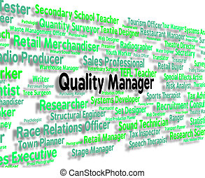 Quality Manager Shows Excellent Guarantee And Job