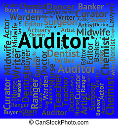 Auditor Job Shows Occupation Auditing And Jobs - Auditor Job...
