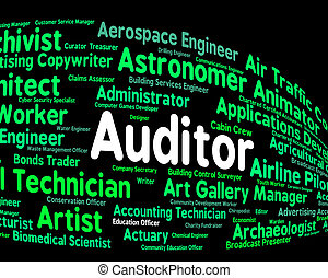 Auditor Job Represents Auditing Word And Inspectors -...