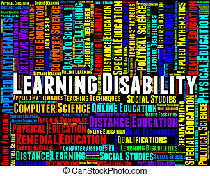 Learning Disability Words Represents Special Needs And...
