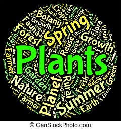 Plants Word Means Herbage Text And Botanical - Plants Word...