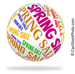 Spring Sale Means Cheap Season And Savings - Spring Sale...