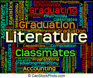 Literature Word Indicates Non Fiction And Words - Literature...