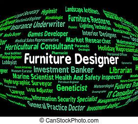 Furniture Designer Indicates Designers Furnitures And...