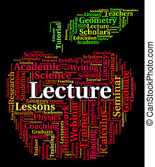 Lecture Word Represents Talks Address And Lessons - Lecture...