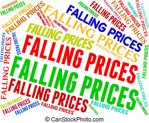 Falling Prices Shows Promo Lowering And Sales - Falling...