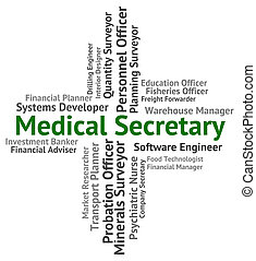 Medical Secretary Shows Personal Assistant And Administrator...