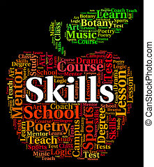 Skills Word Means Words Competencies And Text - Skills Word...