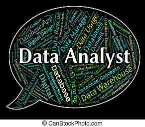 Data Analyst Shows Analyser Words And Analysts - Data...