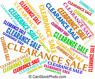 Clearance Sale Represents Offer Words And Save - Clearance...