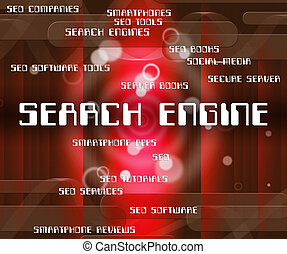 Search Engine Shows Gathering Data And Analyse