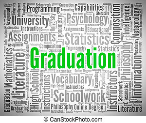 Graduation Word Represents University Phd And Diploma -...