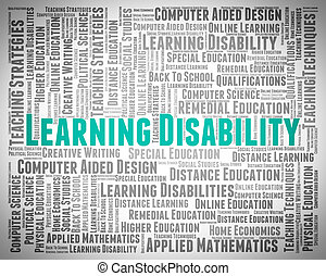 Learning Disability Words Indicates Special Needs And Text -...