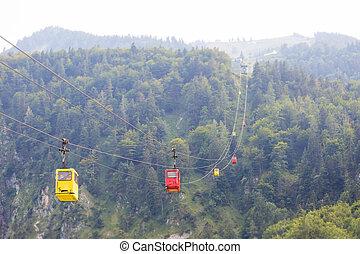Zwouml;lferhorn ropeway - Zwölferhorn ropeway leading to...